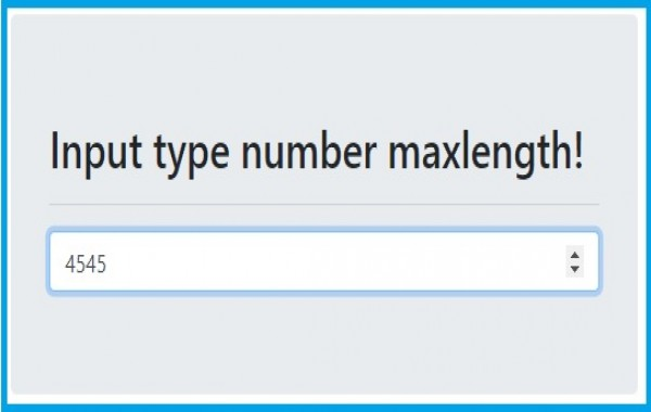 Input type number maxlength not working